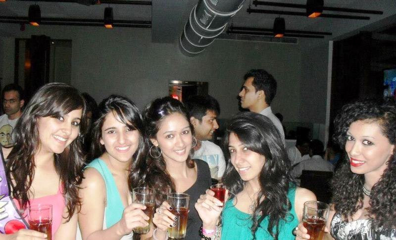 Krissann Partying With Her Friends