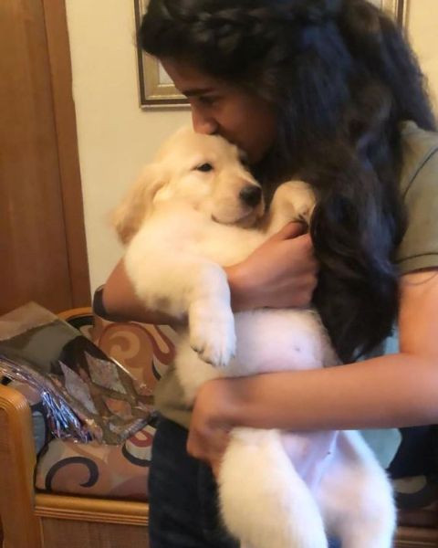 Sana Ganguly with her pet dog