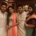 Ravi Dubey with his wife Sargun, brother Vaibhav and sister-in-law Priyanka