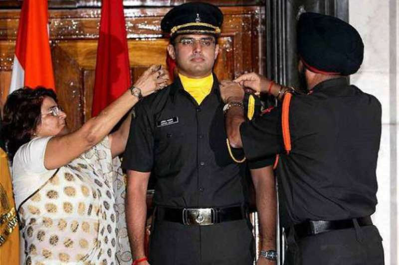 Sachin Pilot Being Commissioned As An Officer In The Territorial Army