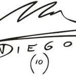 Diego Maradona's Signature