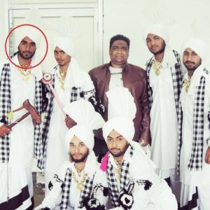 Mr.MnV in a Bhangra team during his college days