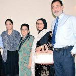 Shaheer Sheikh's Parents (right side) and Younger sister (1st from left)