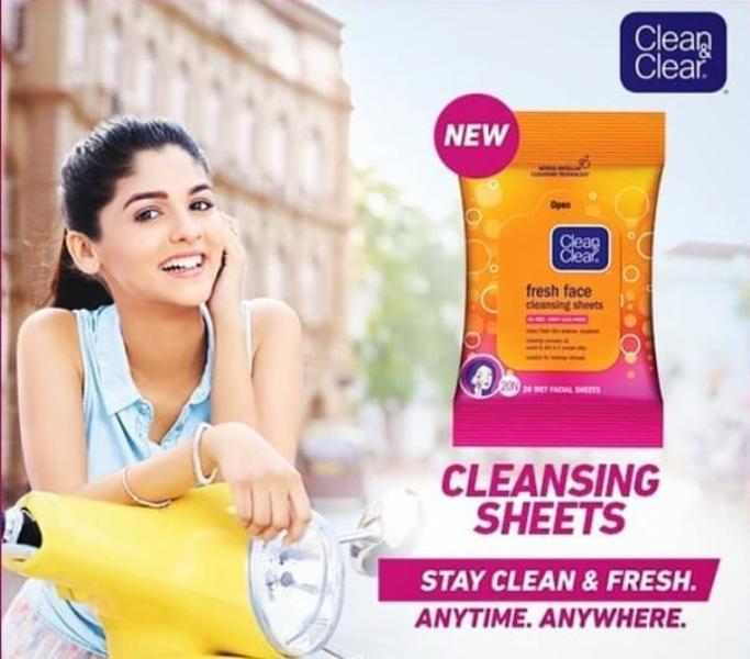 Pranali Rathod in Clean & Clear advertisment