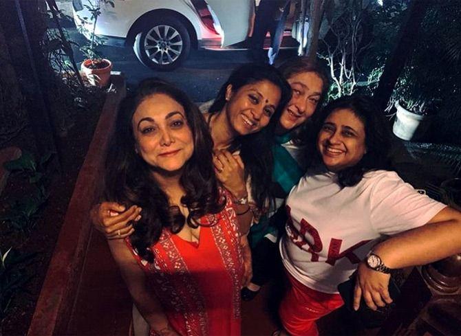 Supriya Sule (centre) with Tina Ambani (extreme left)