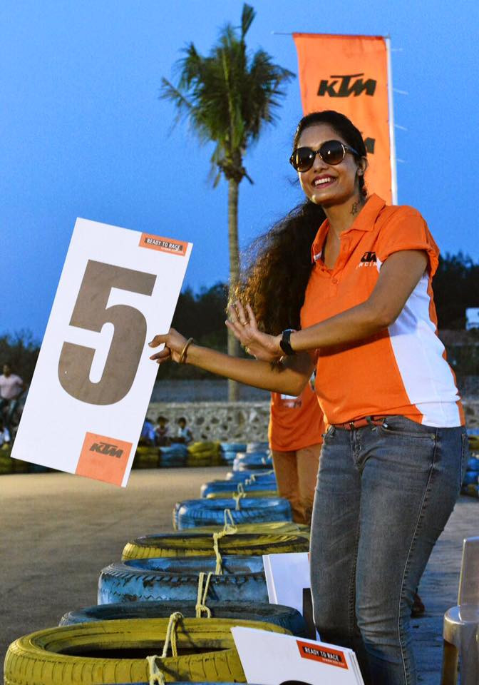Abhirami Venkatachalam As A KTM Bike Racing Cheerleader
