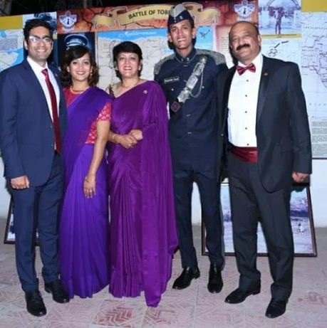 Parikshit Bawa with his family