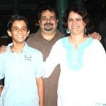 Ritwik Sahore with his parents