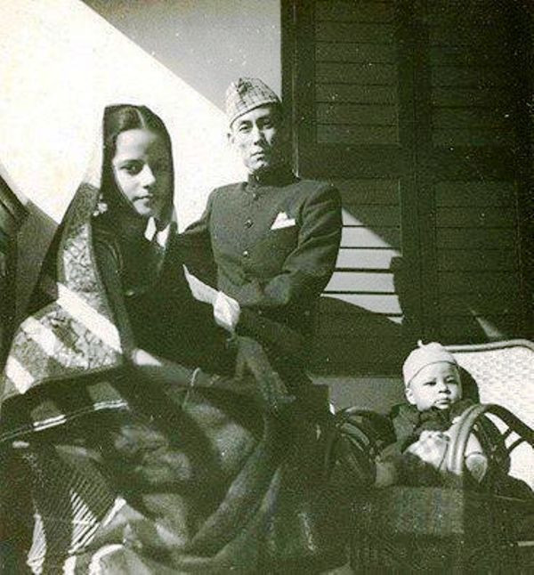 S . D. Burman With His Wife and Son