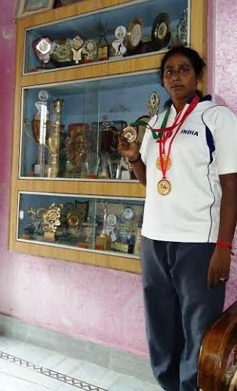 She was the part of the Indian team which won the gold medal in South Asian games.