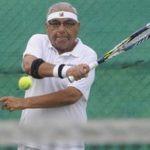 Bhupinder Singh Hooda playing Tennis
