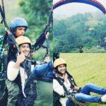 Paras Arora Doing Paragliding