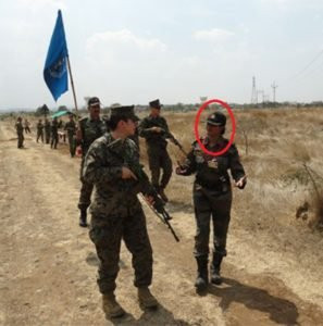 Sophia Qureshi during UN Peacekeeping Opereation