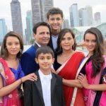 Poonam Shah with her family