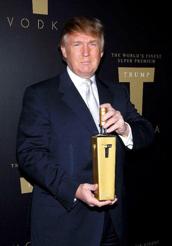 Donald Trump at the launch of Trump Vodka