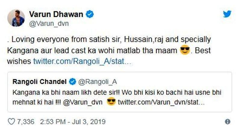 Varun's Reply To Tweet