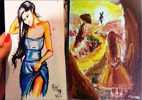 Mouni Roy's Paintings