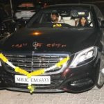 Ekta Kapoor in her Mercedes
