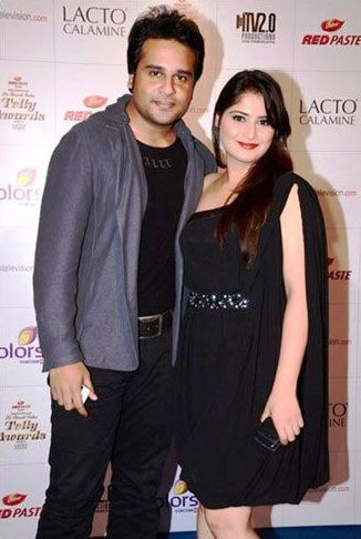 Arti Singh with her brother, Krushna Abhishek