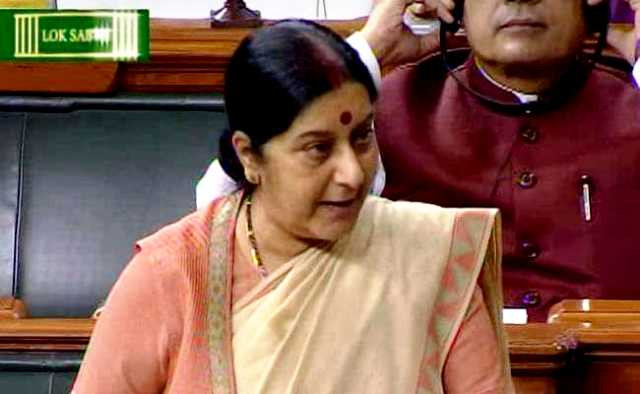 Sushma Swaraj Speaking in the Lok Sabha