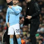 Bernardo Silva with Coach Pep Guardiola