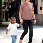 Sandra Bullock with her son
