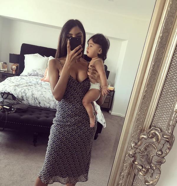 Vini Raman with her niece