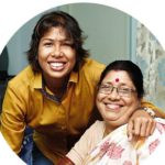 Jhulan Goswami with her mother