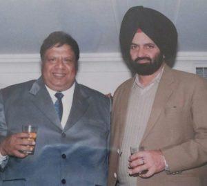 Vijay Tandon drinking whiskey with his favourite songwriter Shamsher Sandhu