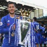 Eden Hazard winning Premier League 2016-2017 with Chelsea