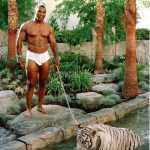 Mike Tyson with Bengal Tiger