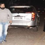 Anurag Kashyap with his car behind