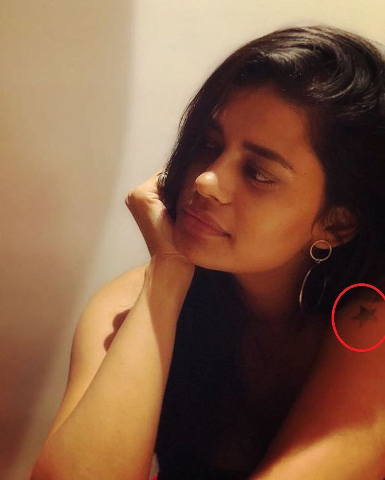 Palomi Ghosh's tattoo on her left shoulder