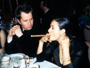 Demi Moore Smoking