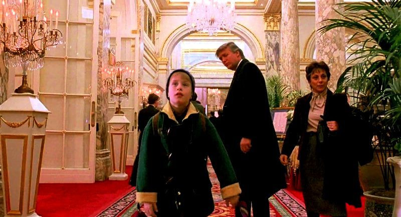 Donald Trump (centre) in a scene from The Little Rascals