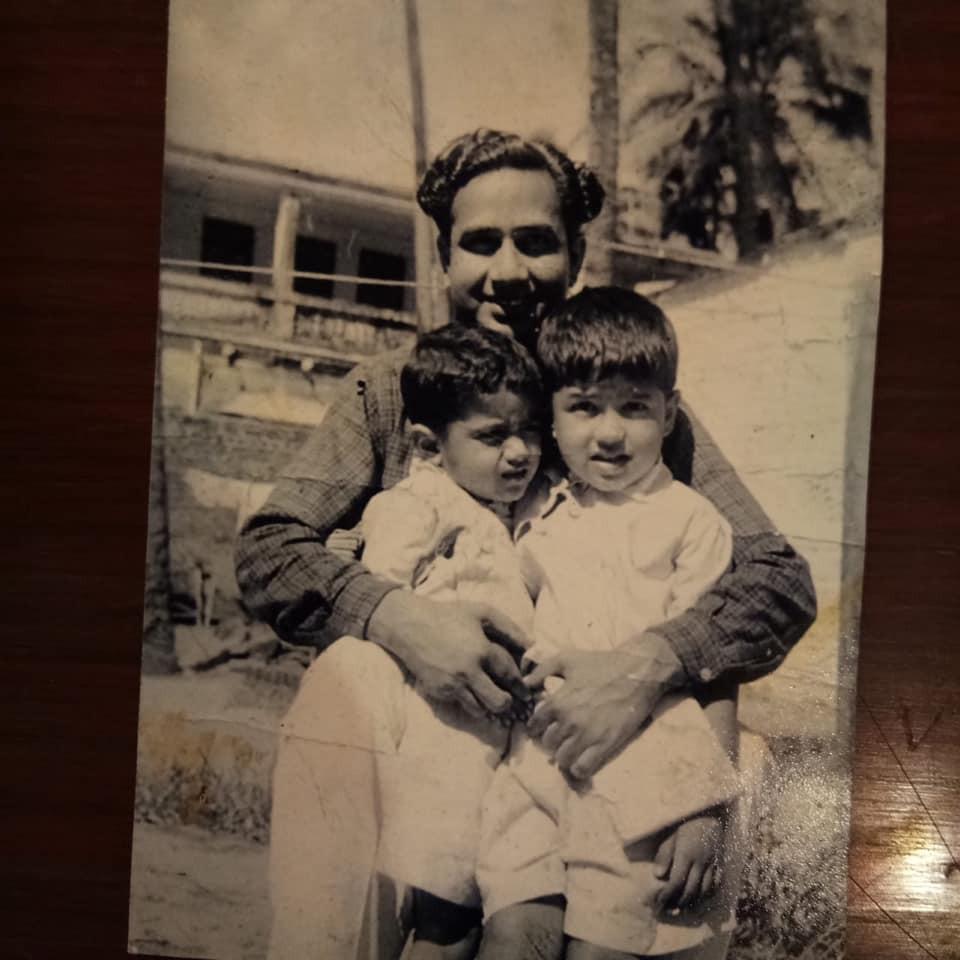 Abu Malik with his father and brother Anu Malik