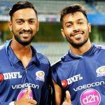 Hardik Pandya with his brother Krunal Pandya