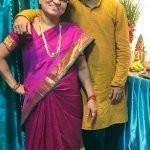 Sagar Bora with his mother