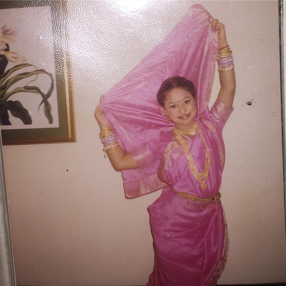 Urvashi Pardeshi childhood picture