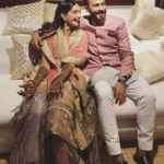 Priya Ahuja Son Anand Ahuja with Sonam Kapoor during their Mehandi Ceremony