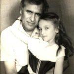 Saumya Tandon (Childhood) with her father B. G. Tandon
