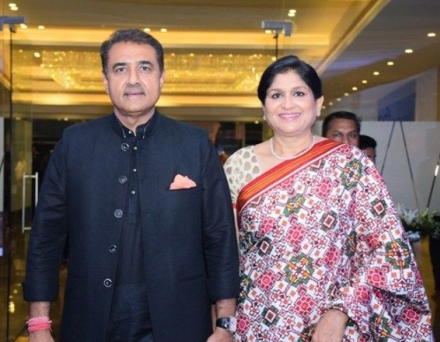 Praful Patel with his wife