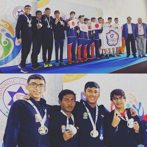 R Madhvan's son at the Asian Age Games