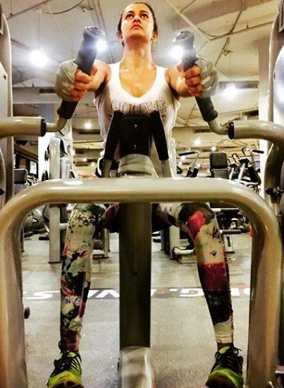 Shubra Aiyappa doing workout
