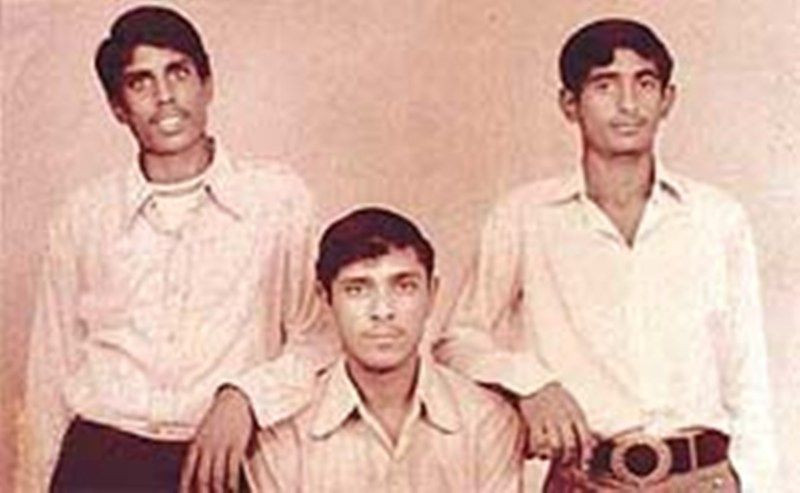 A Rare Photo Of Kapil Dev (standing extreme left) In His Youth