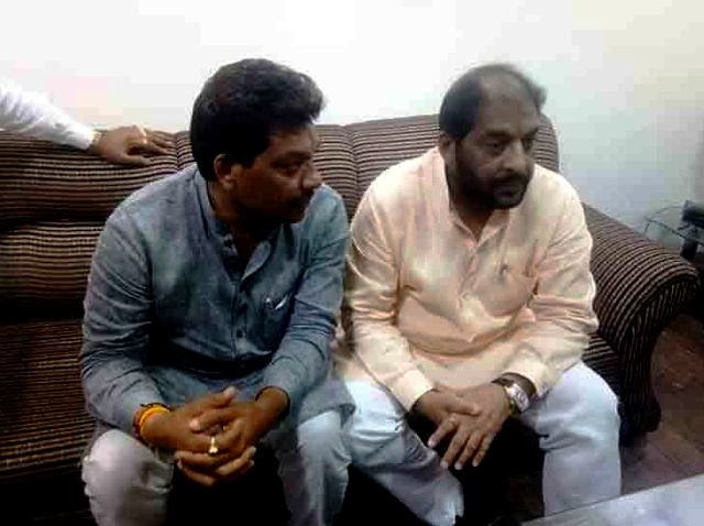 Gopal Kanda with his younger brother Govind Kanda