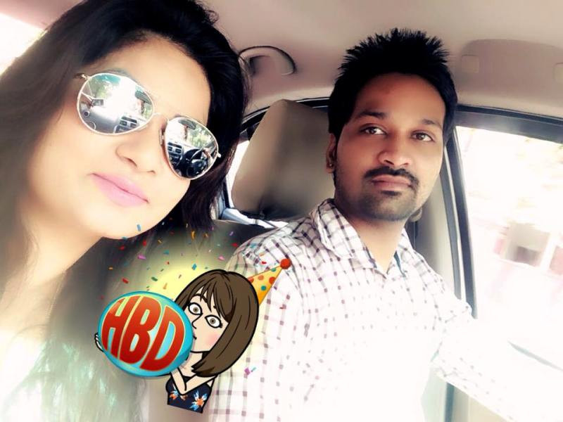 Aabha Paul with Her Brother