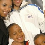 Andre Ward with his family