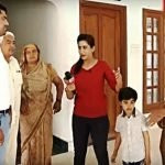 Kavita Devi with her husband and son