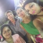 Saloni Sharma with her parents and sister